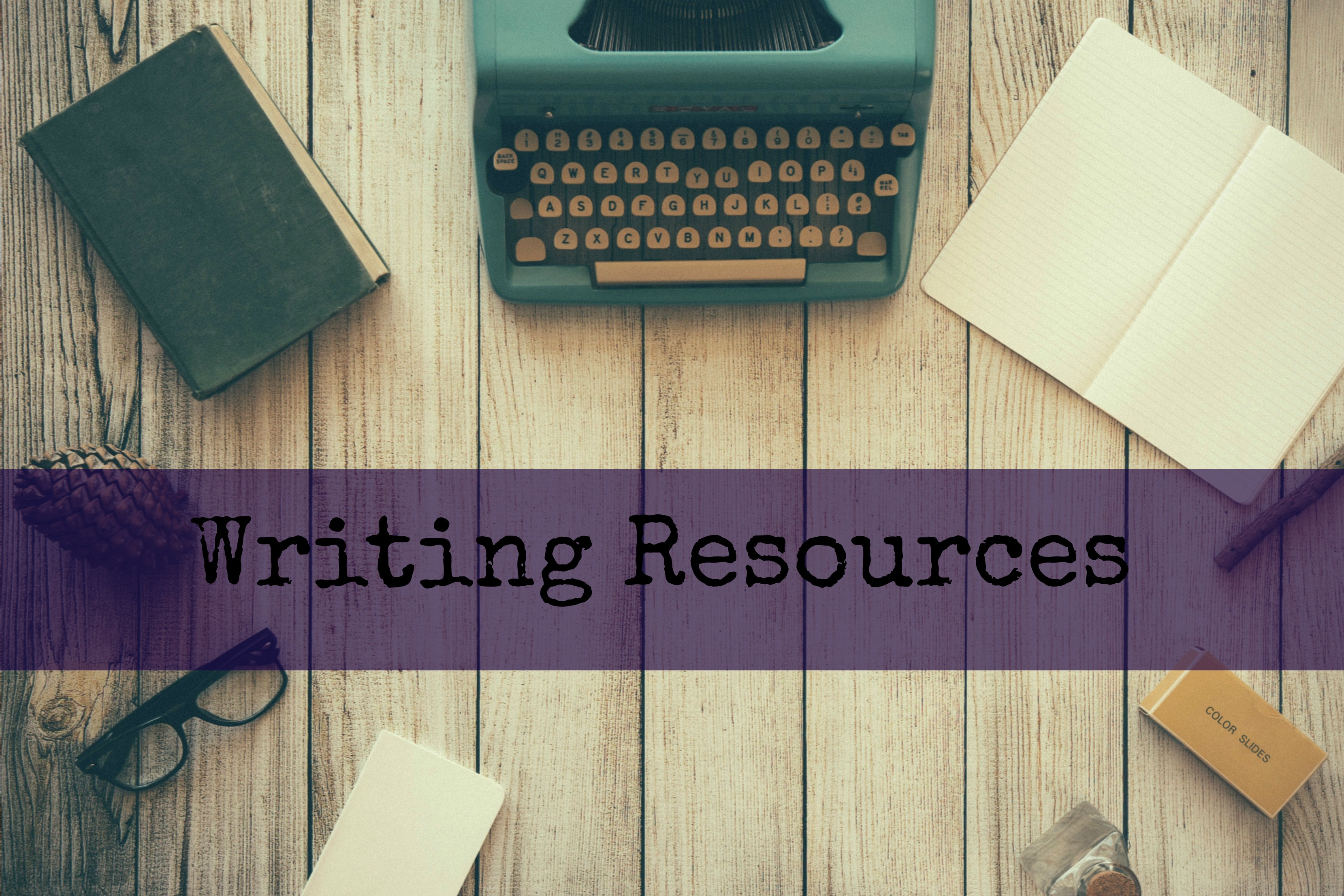old typwriter and book supplies resources banner jpeg
