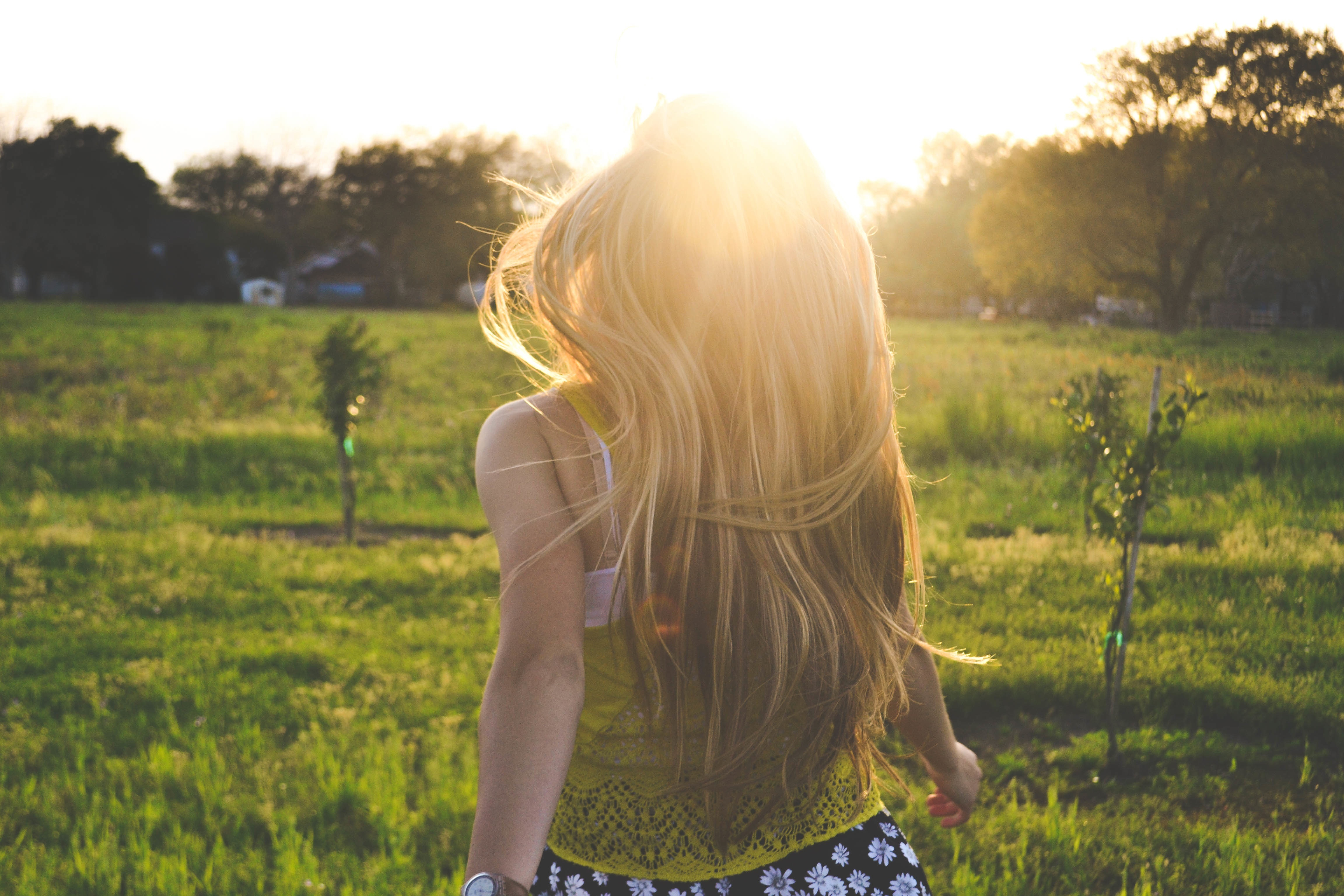 blong girl running with sunshine jpeg