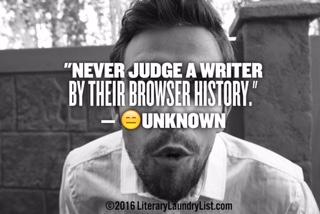 never judge a writer