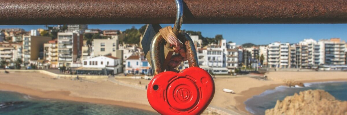 red heart lock over ocean resized